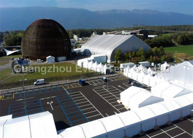 Big Size Outside Storage Tent White , Wedding Venues Marquee curved tent UV Resistant