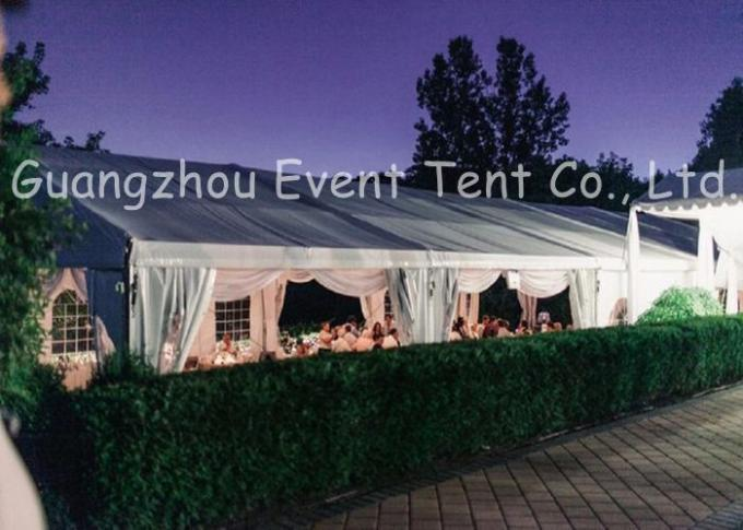 Luxury Large White Wedding Tent , Waterproof Outside Canopy Tent