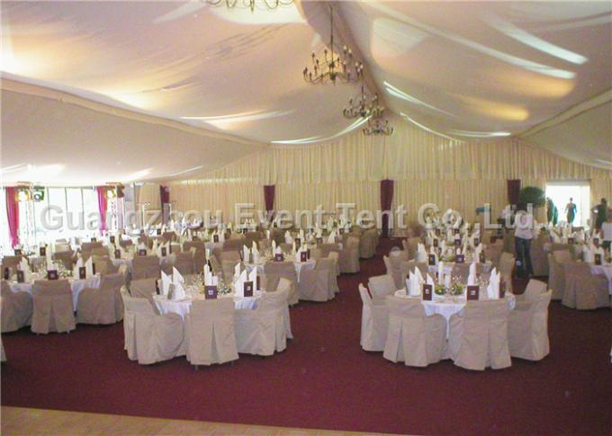 Luxury Wedding Party Tent event marquee With Hard ABS wall  / Glass Wall Easy Assemble
