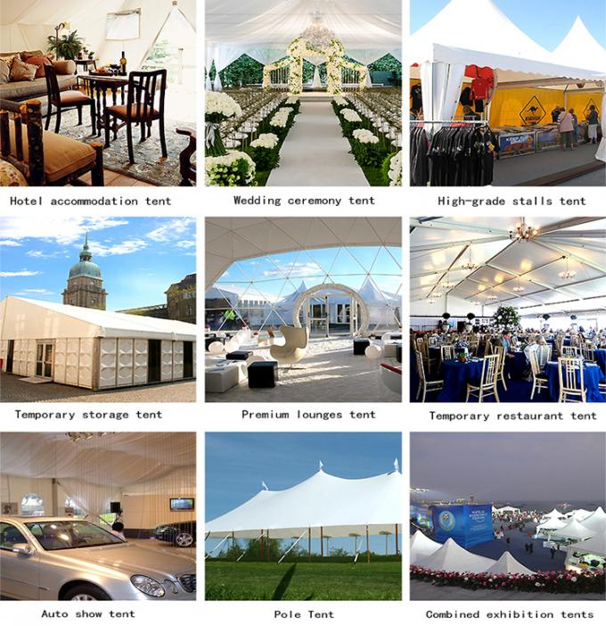 Easy Installation pvc  Two Floor Tent White , A Frame Marquee Party Tent With Flooring