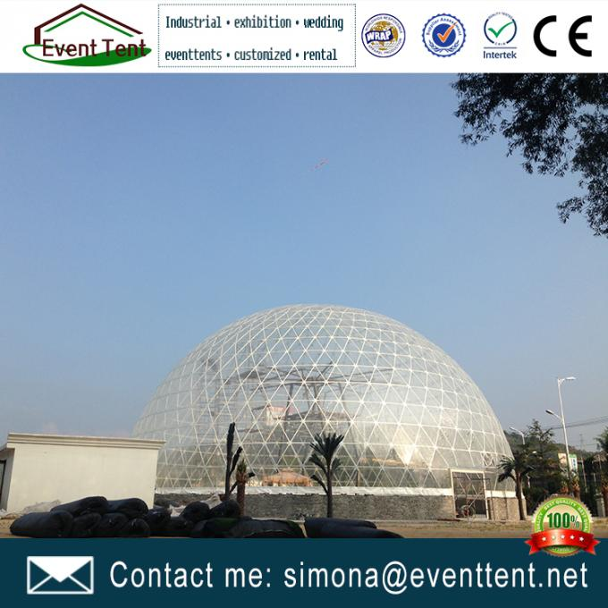 Big Luxury Party Tent  40 Diameters Transparent Dome Tent For 500+ People events