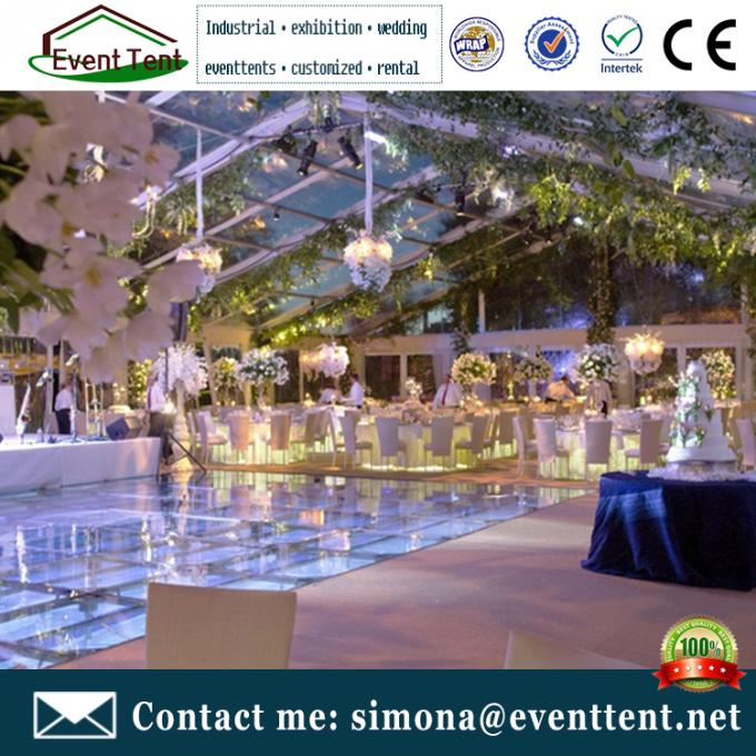 Fashion Wedding Clear Span Tent Easy Assemble With Transparent Cover ISO