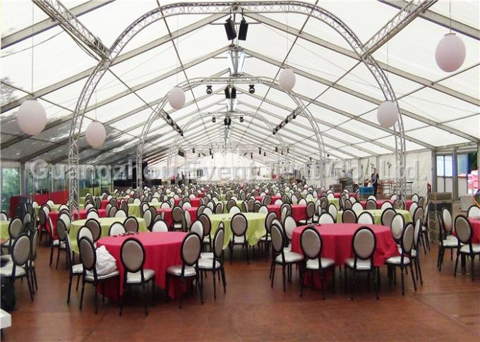 Clear Roof Party Tent For 300 People , Transparent Wedding Tent With PVC Fabric