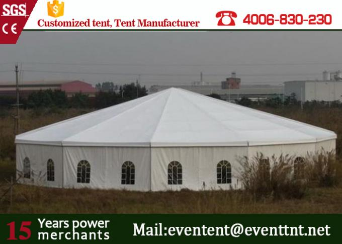 Outdoor Pop Up Shelter Tent Double PVC Coated Polyster Fabric With Kitchen