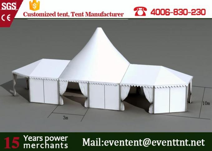 Waterproof High Peak Tent , Outdoor Marriage Decoration Wedding Tent