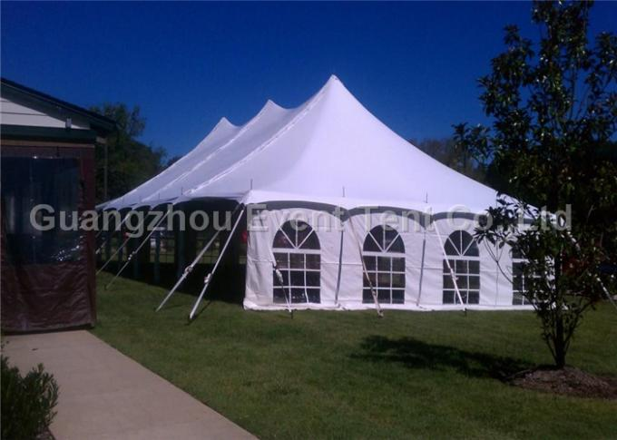 30m Big White Freeform Stretch Tent With Blocked - Out Sunshine Roof Cover