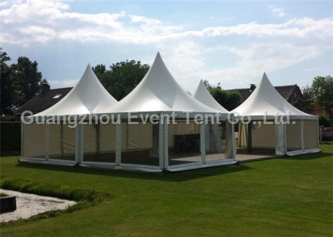 Durable garden marquee pavilion pagoda party tent with logo printed for exhibition event