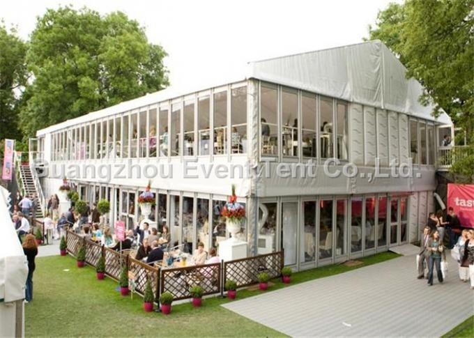 Strong frame marquee double decker tent with aluminum structure for exhibition event