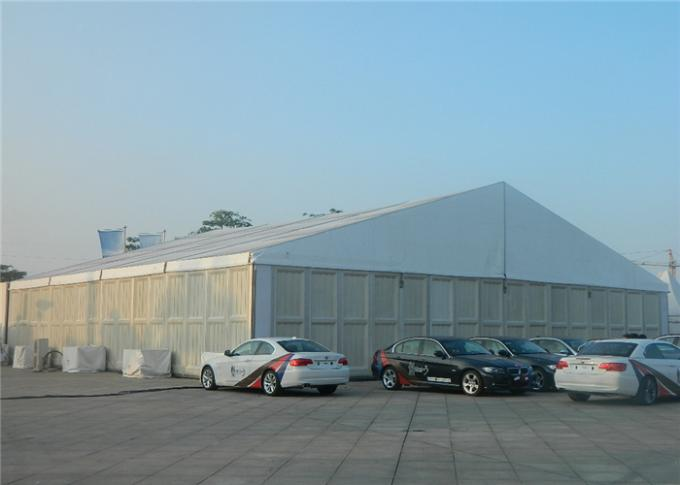 Custom 30 x 50 Frame Tent For Auto Show , Big Event Tent With ABS Hard Walls