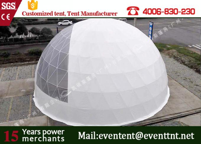 Dome Shelter Systems Geodesic Dome Tent With Hot Dip Galvanized Steel Structure