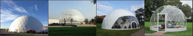 Outdoor Geodesic Customized Large Dome Tent For Events / Exhibition