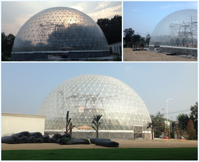 Transparent Outdoor Geodesic Large Dome Tent With Waterproof PVC