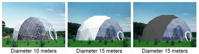 35m Aluminum Structure Geodesic Transparent Dome Tent With PVC Coated