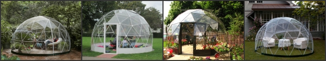 Aluminum Frame Prefab Large Glass Dome Tent Garden House For Party