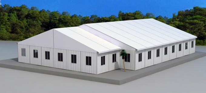Hot Sale 20m Width White Outdoor Warehouse Tent With Waterproof PVC Fabric