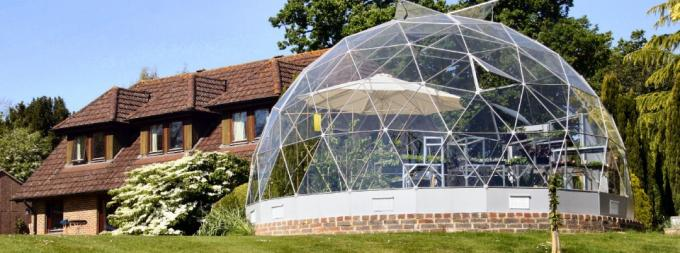30m Diameter Fiberglass Large Dome Tent House For Party / House Living