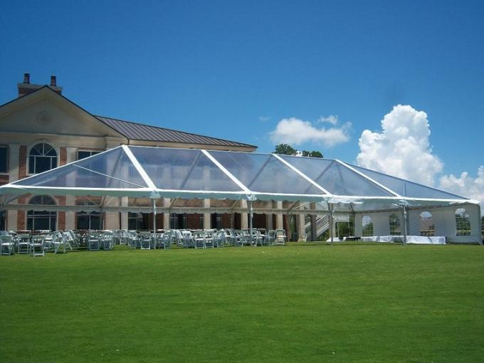 Long Life 20x40 Anti - Corrosion Transparent Wedding Tent With Clear Roof