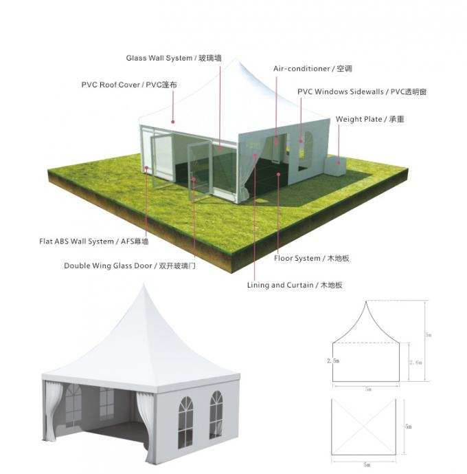 Aluminum Profile Pagoda Marquee Tent For Large Outdoor Event Arena