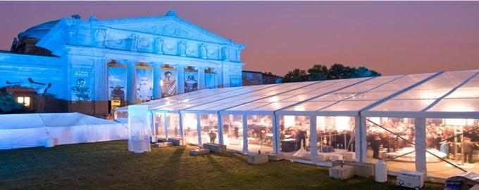 Large Capacity Royal Waterptoof Outdoor Wedding Tents With PVC / Glass Windows