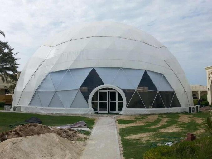 Waterproof Eco Military Trade Show Large Dome Tent 30m Diameter
