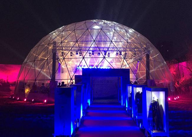 Galvanized Steel Tube 360 Projection Screen Large Dome Tent , 100 Feet Diameter
