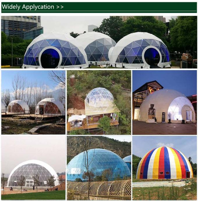 Outdoor Event / Expedition Dome Tent Canopy With Single Swing Glass Door
