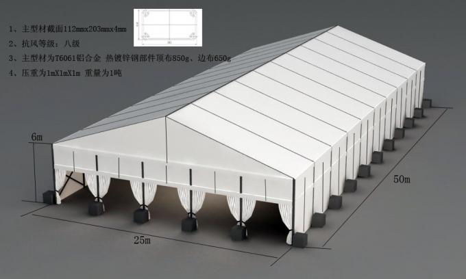 20x25m Temporary Construction Steel Structure Warehouse Tent With Sandwich Walls