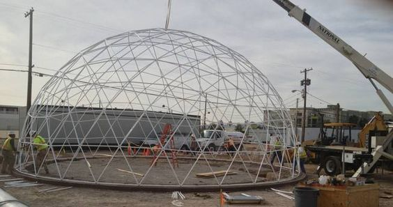 Fire Ratardant Modular Sphere Geodesic Party Dome Tent 200 Kg/Sqm