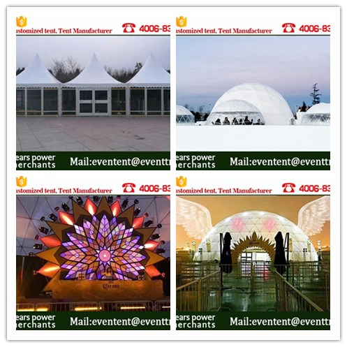 20 meters diameter geodesic dome marquee with PVC material for events