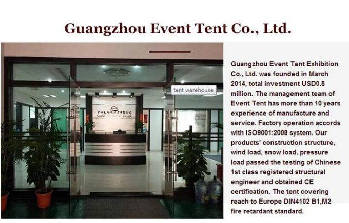 Wedding / Event Marquee Curved Trade Show Tent 20 * 30m Hot - Dip Galvanized Steel