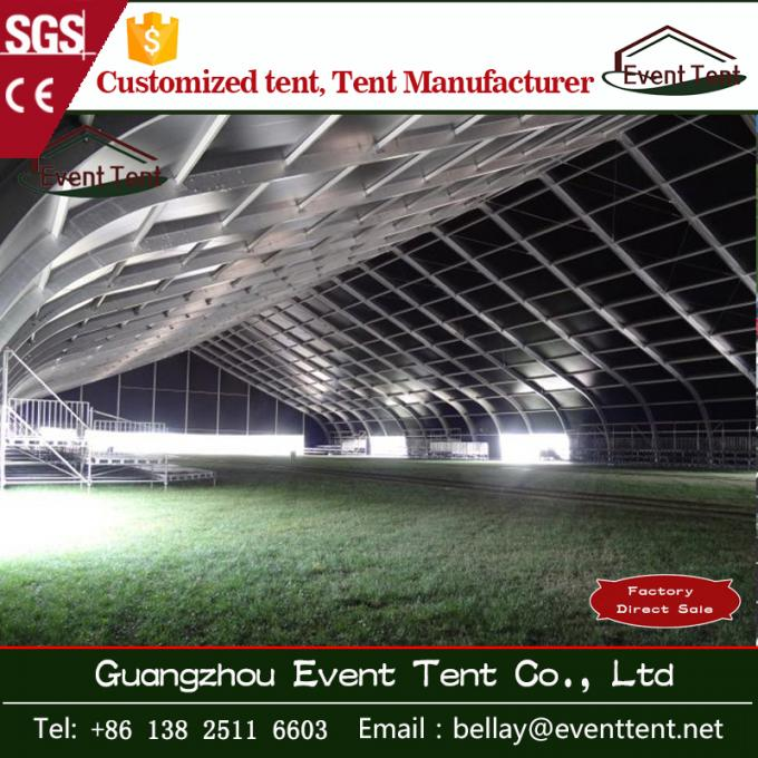 Airplane aircraft hanger tent curved PVC cover roof tent