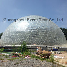 China customized 30meter diameter big clear transparent geodesic dome tent supplier