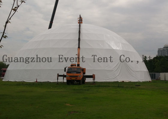 China Big Steel Nails Blue Camping Tent , Outdoor Canopy Tent For Projection Screen supplier