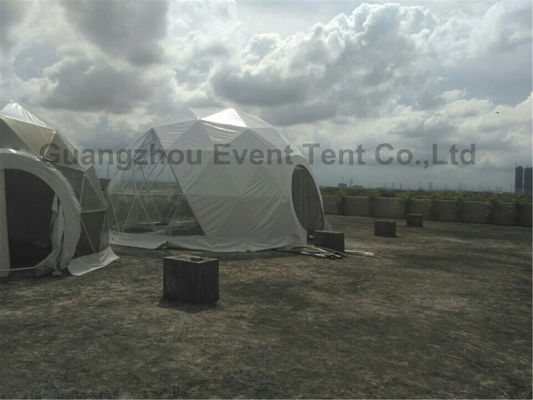 China Custom Geodesic Dome Tent For Event White Color Roof Top 10 Meters Diameter supplier