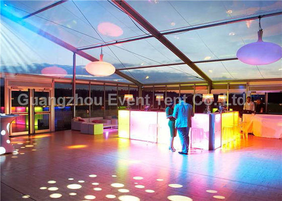 35m Width Outdoor Clear Span Fabric Structures Fire Retardant For Exhibition Event