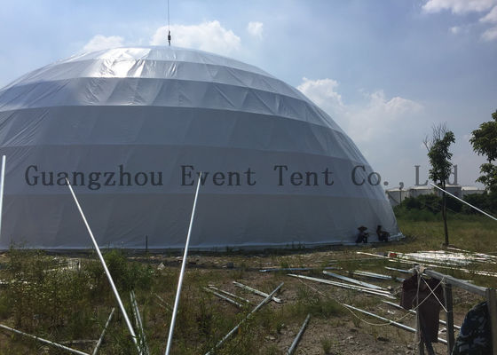China White Color Geodesic Dome Tent Waterproof For Football Pitch Diameter 31 Meters supplier