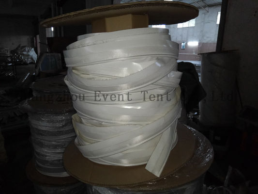 China 10mm Tent Accessories PVC Fabric 850gsm 30mm Double Flap Keder For Advisement Usage supplier