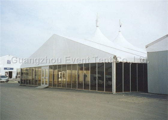 White Party Marquee Self Cleaning Design , Heavy Duty Gazebo Frame For Hotel