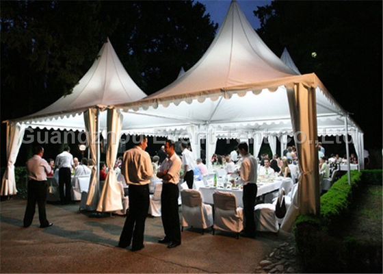 One Stop Gardens Pagoda Party Tent Custom With Decoration Lining / Solar Power