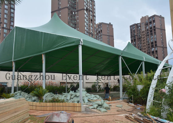 China Music Show High Peak Tent With Hard Pressed Extruded Aluminum Alloy T6061 / T6 supplier