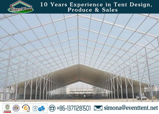 China Experienced A Frame Tent 850gsm PVC Coated Polyester Fabric Cover For Storing supplier