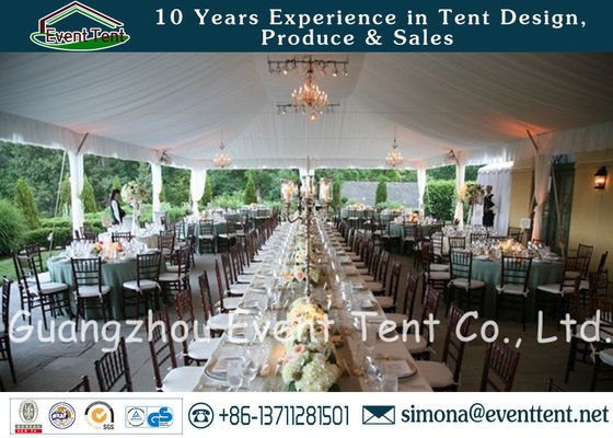 China 500 People Wedding Party Tent White Color With Durable PVC Fabric Waterproof Cover supplier