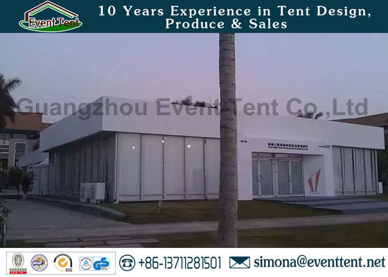 China Professional Custom Event Tents Water Resistant With Double Swing Glass Doors supplier