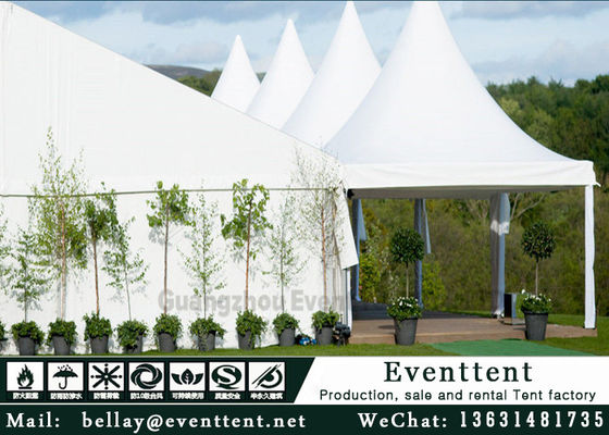 China White Outdoor Party Tent For Advertising , Heavy Duty Waterproof Gazebo SGS supplier