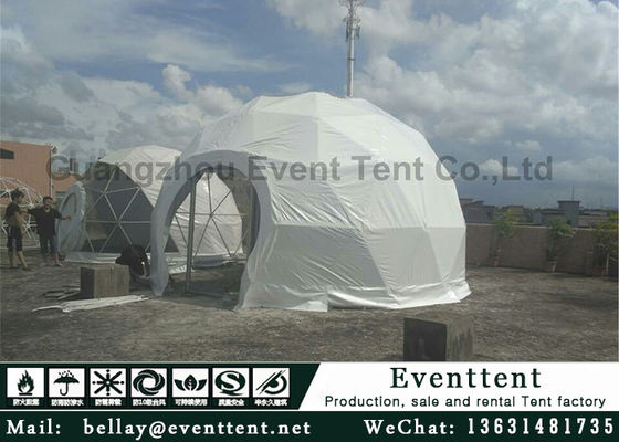 China Clear Walls Large Dome Tent With Hot Galvanized Steel Frame 6m Diameter supplier