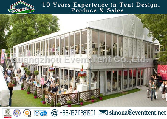 China Double Decker Marquee For Wedding , House Shaped Tent Anti UV Easy Assemble supplier
