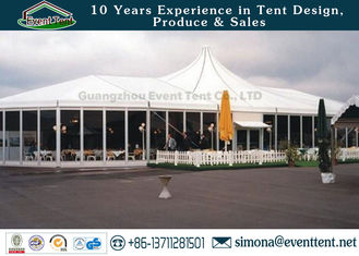 China Adjustable Heavy Duty Tents White , High Peak Pole Tent For Large Workshop supplier