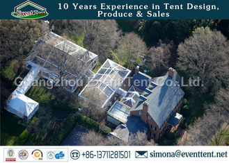 China Hyaline Frame Marquee Clear Span Steel Buildings For Festival Celebration European Style supplier