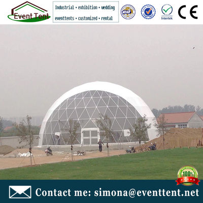China 20m colorful waterproof  large dome tent with 120 km / h wind load supplier