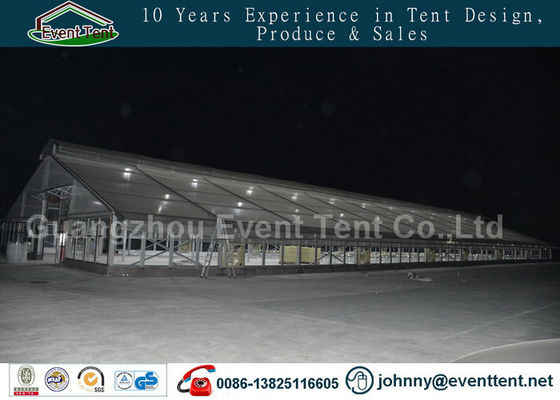 double roof transparent outdoor warehouse tent for food storage